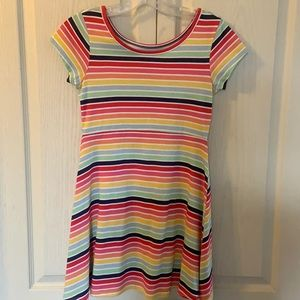 But 2 items for $10 Bright striped summer dress